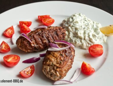 Bifteki vom Grill / Pfanne