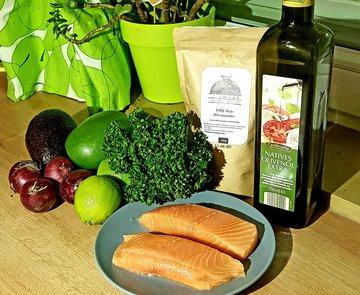 Lachsfilet mit einem Karibischen Salat